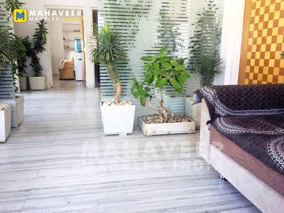Aarna White Marble Flooring