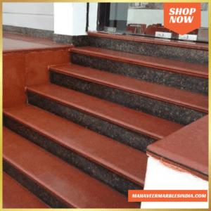 Lakha Red Granite Stairs