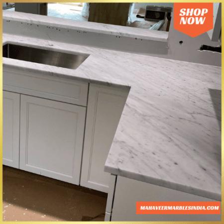 Venatino White Marble Countertop