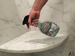 Cleaning white marble