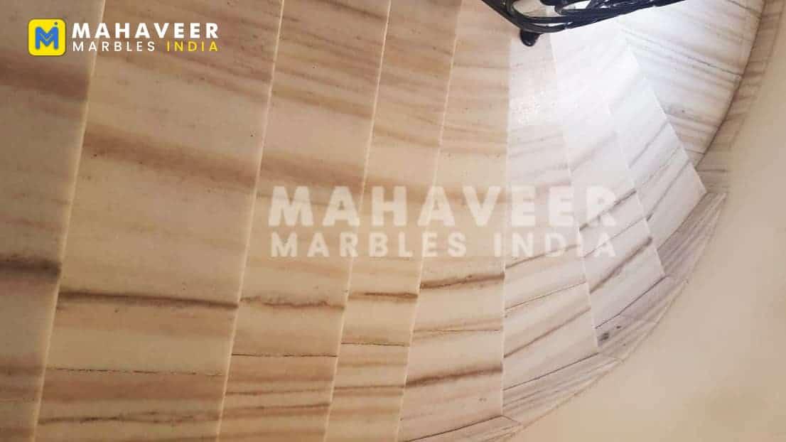 Brown Albeta Marble Stairs