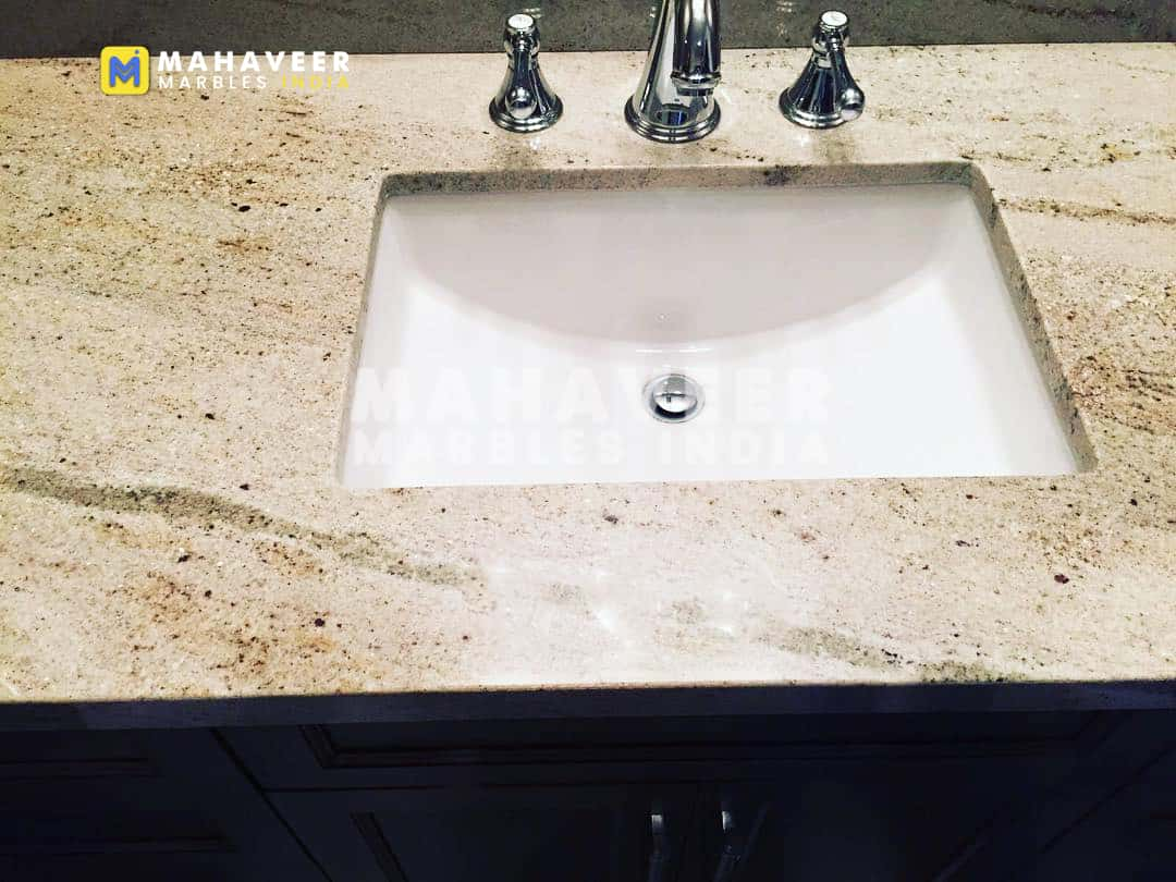 Bahama Ivory Gold Granite Sink
