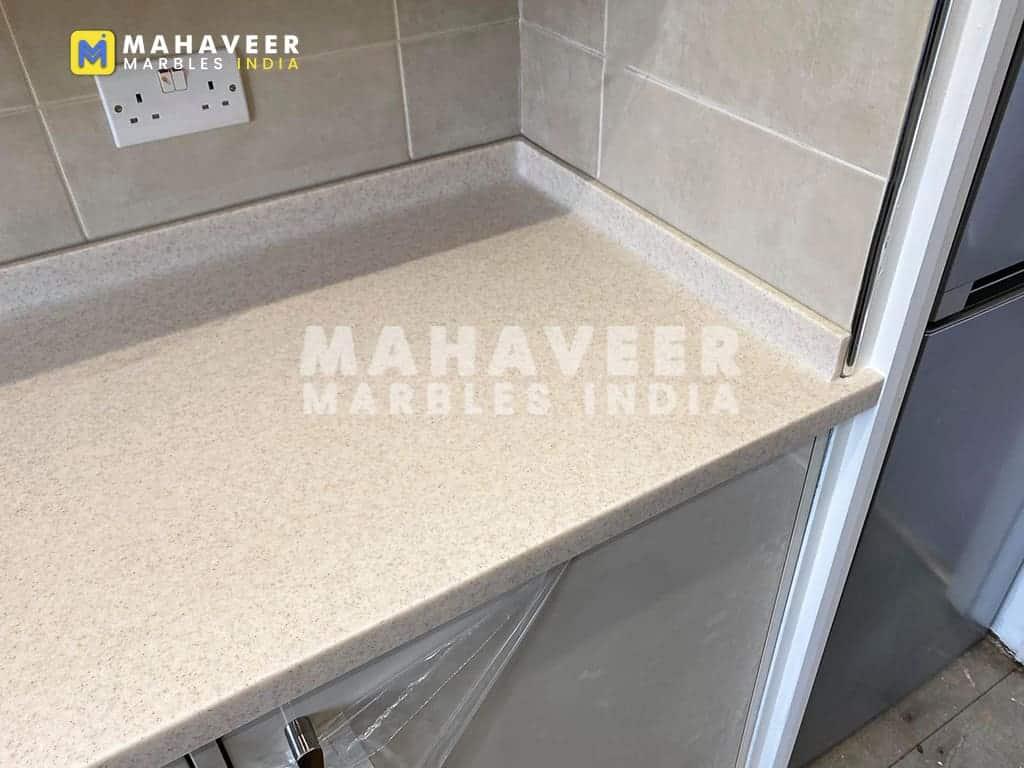 Sahara White Granite Countertop