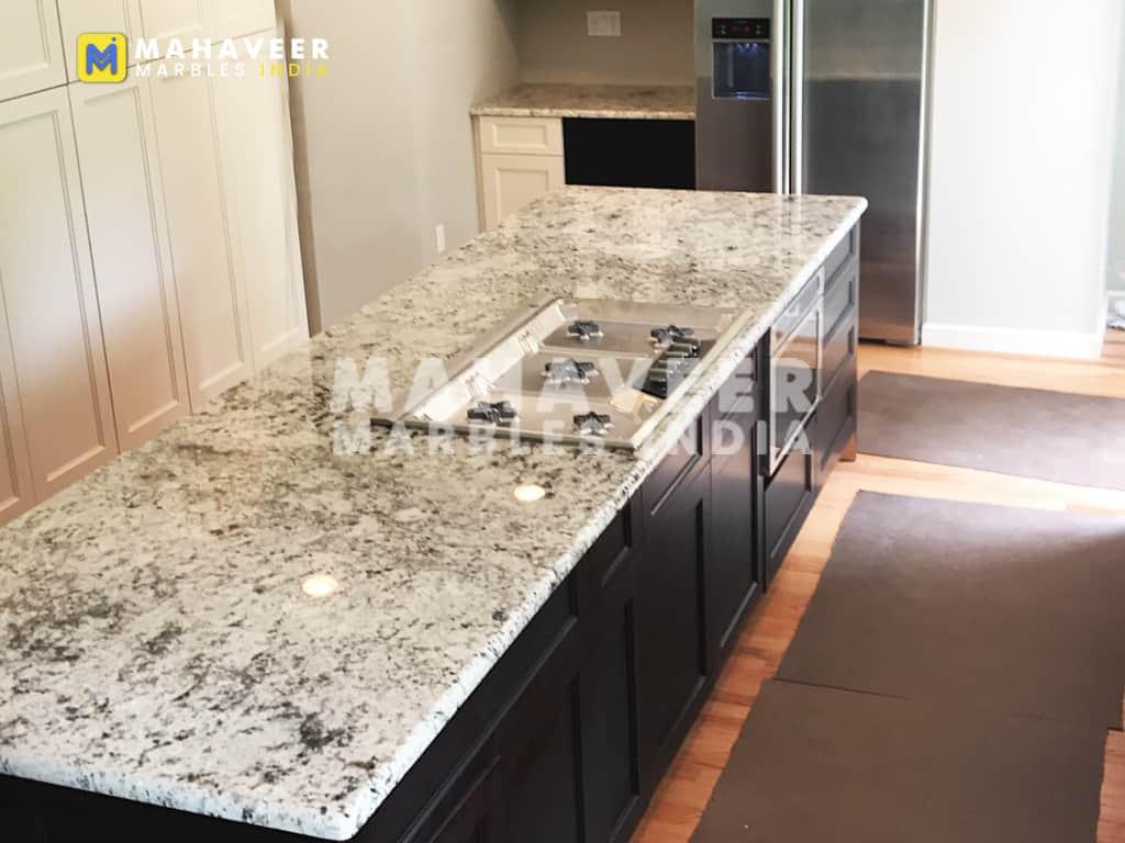 White Galaxy Granite Countertop