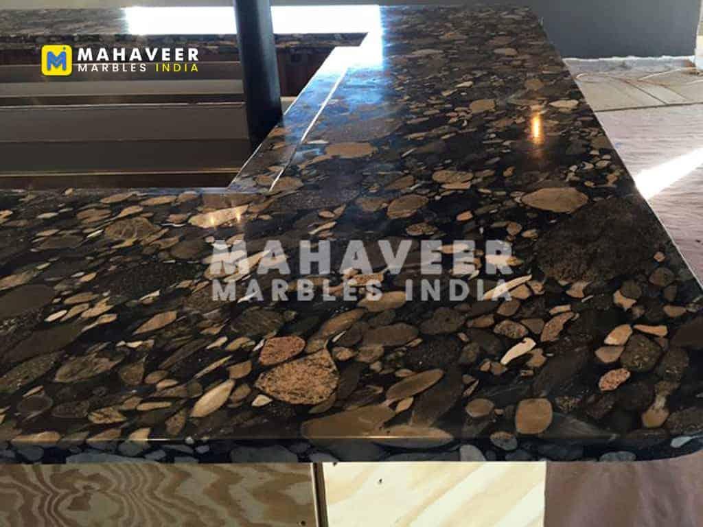 Cobbles Marinache Black Granite Texture