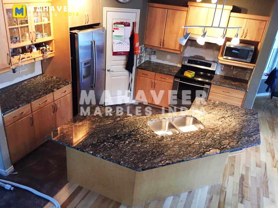 Chocolate Brown Granite Countertop