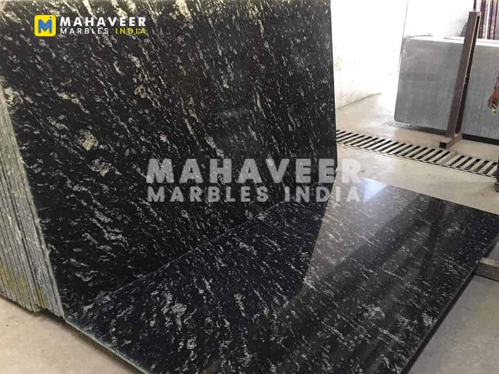River Black Granite Texture