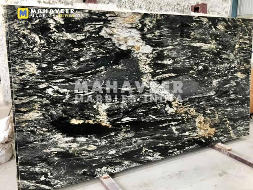 Titanium Black Granite Slab