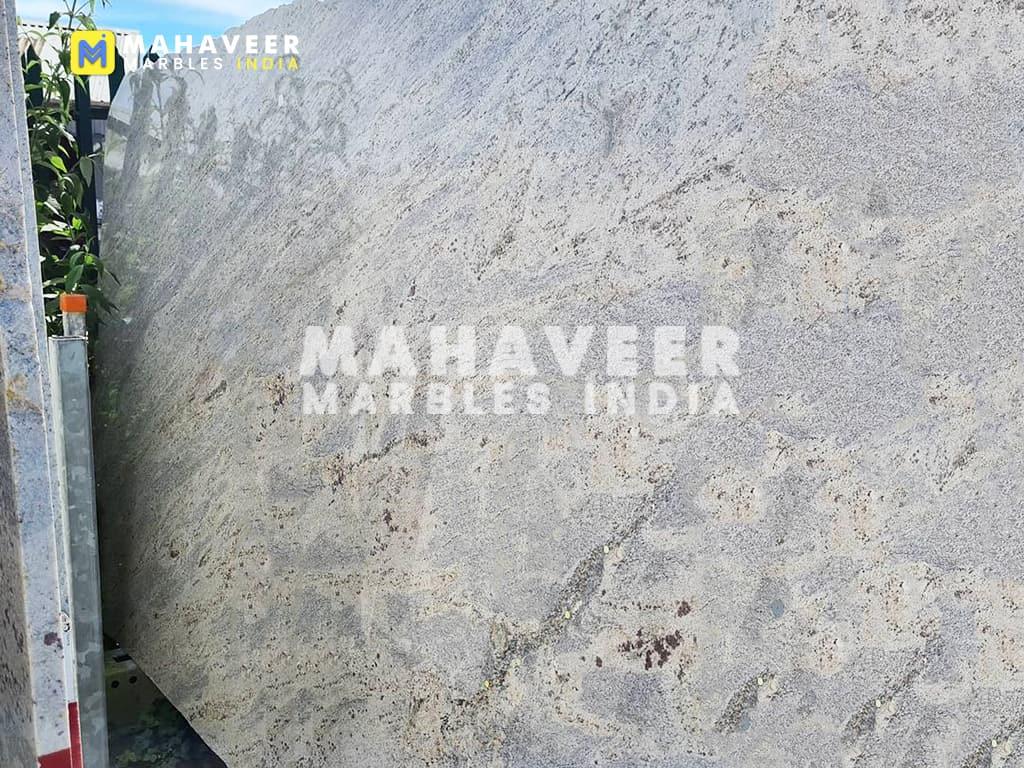 Kashmir White Granite Block
