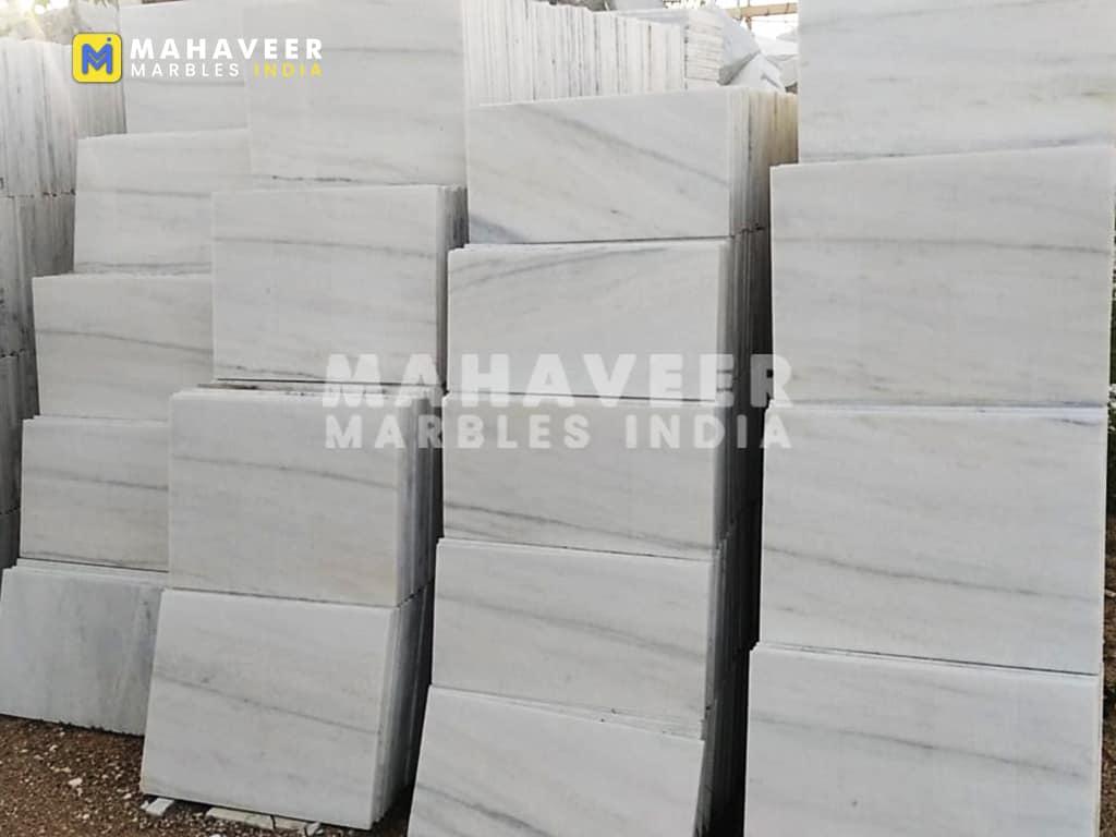 Ocean White Marble Tiles