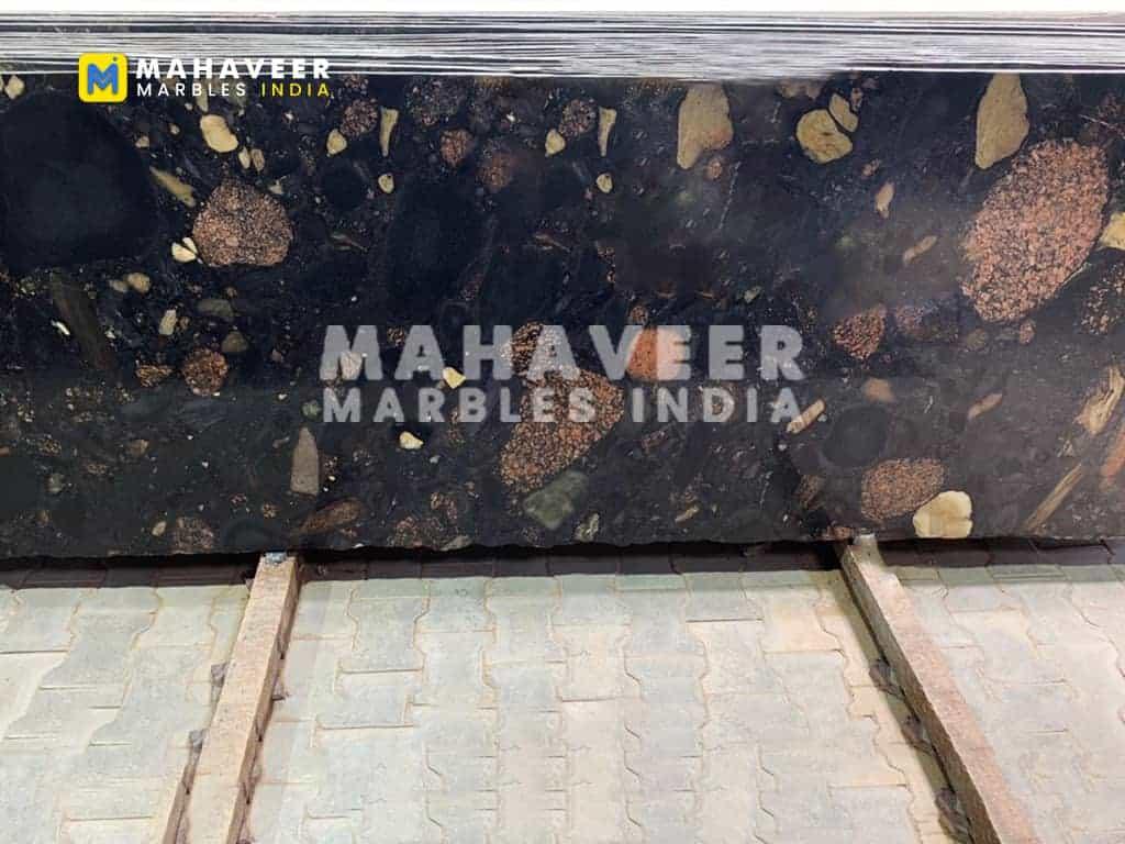 Cobbles Marinache Black Granite Slab