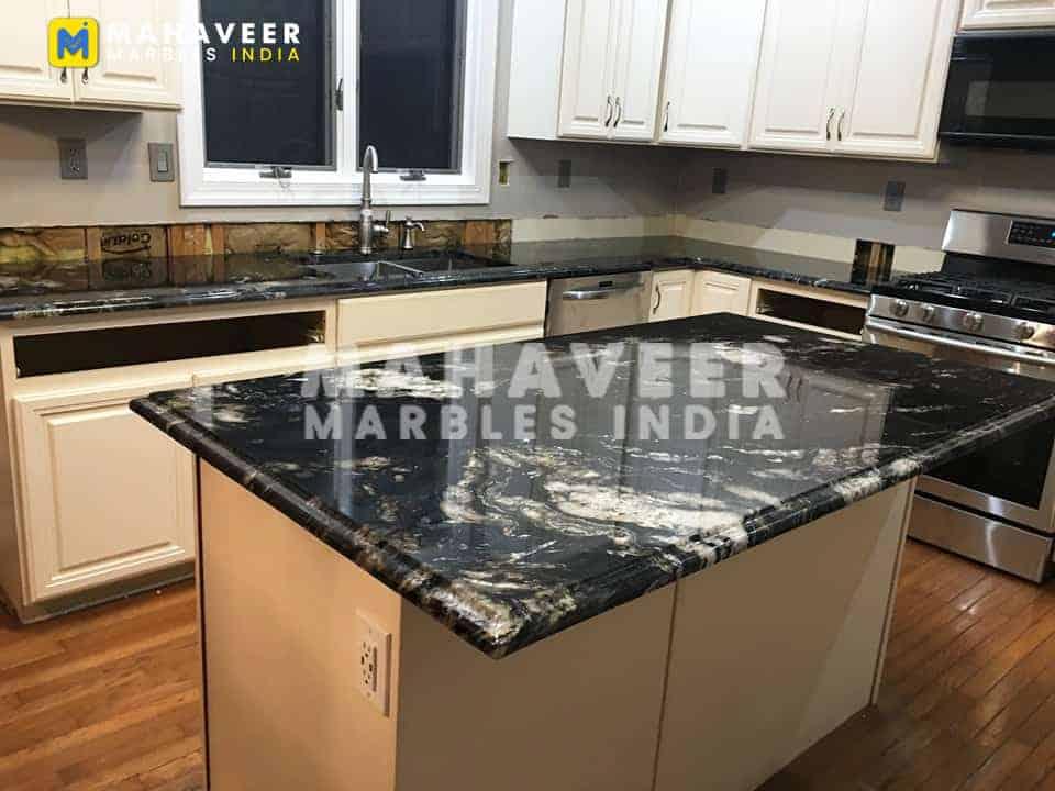 Titanium Black Granite Countertop