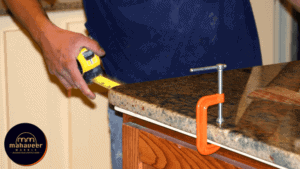 Plug the Polishing Pads into the Grinder